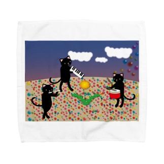 虹色の砂 タオルハンカチ