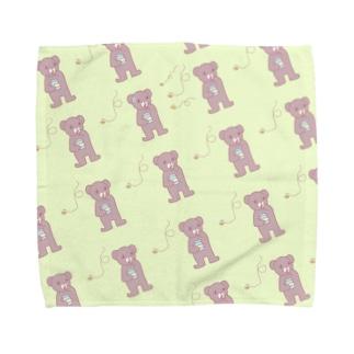 クマとハチ Towel handkerchiefs