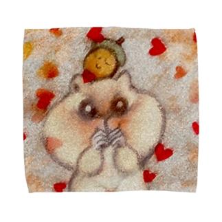 どんぐりとリス Towel handkerchiefs