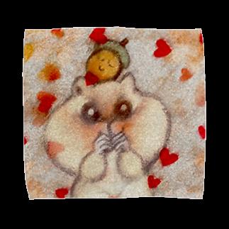YONEのどんぐりとリス Towel handkerchiefs