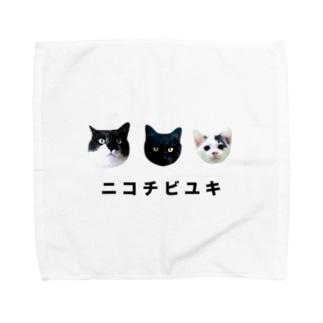 ニコチビユキ Towel handkerchiefs
