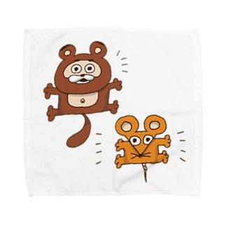 躍動!たぬきち Towel handkerchiefs