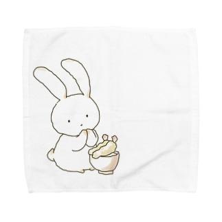天丼ウサギ Towel handkerchiefs