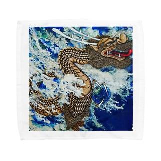 波動上昇シリーズ Towel handkerchiefs