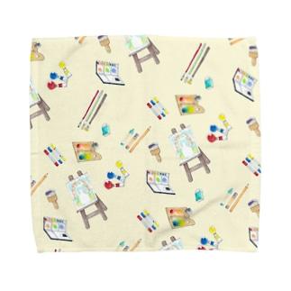 お絵かき Towel handkerchiefs