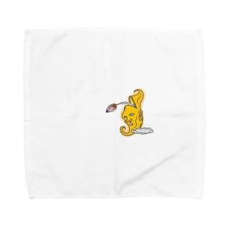 おつきさんロケット Towel handkerchiefs