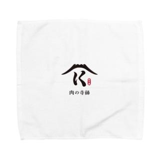 肉の寺師(白) Towel handkerchiefs