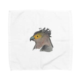 カンムリワシ Towel handkerchiefs