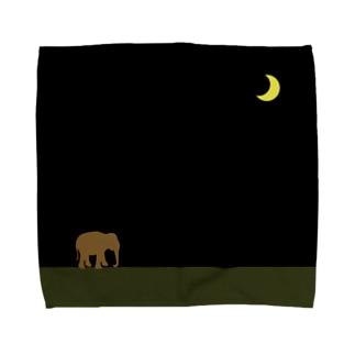moon & brown elephant Towel handkerchiefs