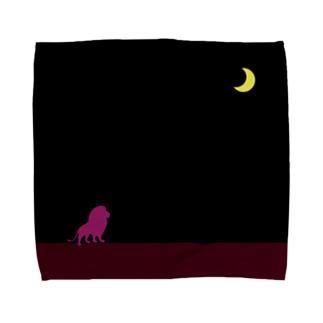 moon & purple lion Towel handkerchiefs