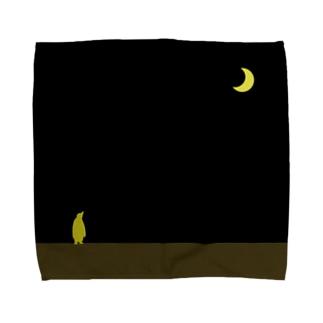 moon & yellow penguin Towel handkerchiefs