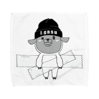 I.gasu sheep【アイガス】 Towel handkerchiefs