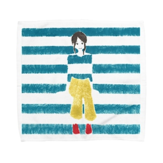 ohanのBorder Girl Towel handkerchiefs