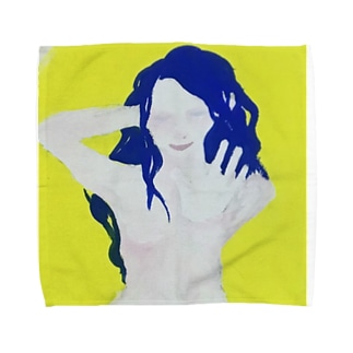 ポージング裸女 Towel handkerchiefs