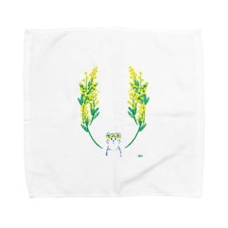 othello shopのくまとミモザ Towel handkerchiefs