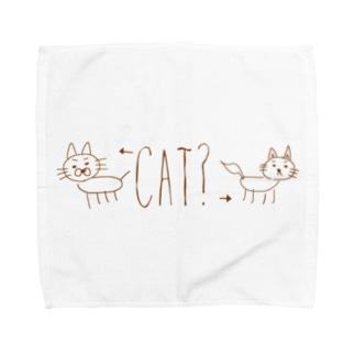 Noppeの犬と猫? Towel handkerchiefs