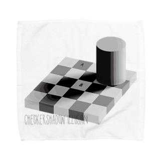 Remarkable Itemsのチェッカーシャドー錯視 Towel handkerchiefs