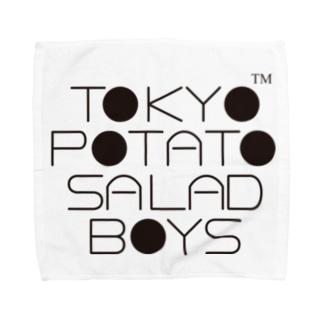 東京ポテトサラダボーイズ公式ネオクラシックロゴ タオルハンカチ