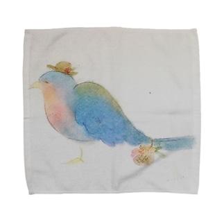 鳥さんの  おとどけもの Towel handkerchiefs