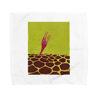 キリンがつきささる Towel handkerchiefs