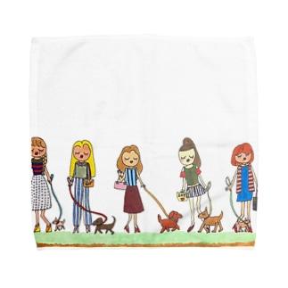 小学生デザイナー 松本にいな 12歳のおさんぽ Towel handkerchiefs