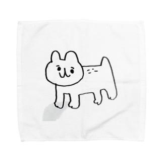 もりのネコが見てる Towel handkerchiefs