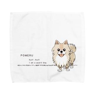 *suzuriDeMonyaa.tag*のぽめるはポメラニアンA Towel handkerchiefs