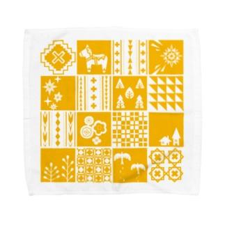 patchwork(yellow) タオルハンカチ