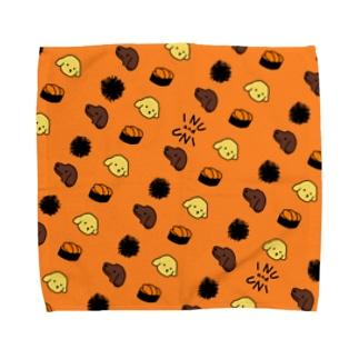 犬とうに3(オレンジ) Towel handkerchiefs