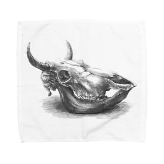 迫力のない牛骨 Towel handkerchiefs