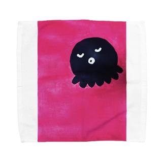 どっかで見たタコ Towel handkerchiefs