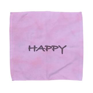 ハッピー Towel handkerchiefs