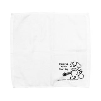 うんちの置き去りしないでね! Towel handkerchiefs