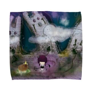 さまようあくまこ Towel handkerchiefs