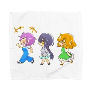 ハッピーな3人組 Towel handkerchiefs
