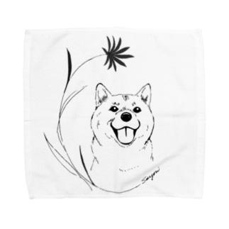 しばわんこ Towel handkerchiefs
