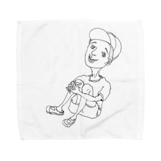 体躯座りboy Towel handkerchiefs