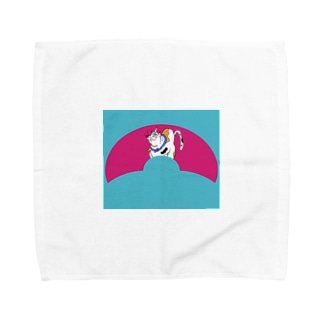 JUNSEN(純仙)扇形の中にいる猫A Towel handkerchiefs