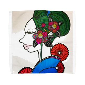 椿は髪に良いらしい。 Towel handkerchiefs
