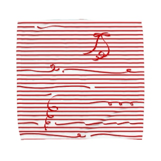Red Stripes タオルハンカチ