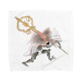百鬼夜行絵巻 笙の付喪神【絵巻物・妖怪・かわいい】 Towel handkerchiefs