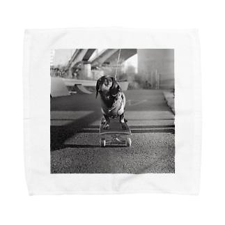 Skating Dog Towel handkerchiefs
