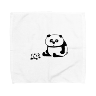 親子パンダ Towel handkerchiefs