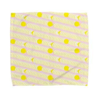 レモンのパターン タオルハンカチ