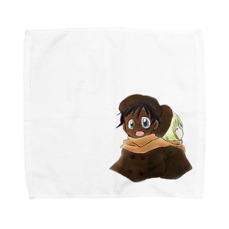 黒白マフラー Towel handkerchiefs
