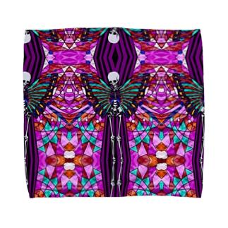 肋骨と蝶(小柄) Towel handkerchiefs