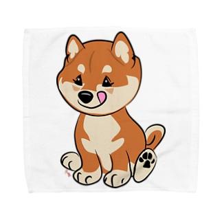 柴こいぬ Towel handkerchiefs