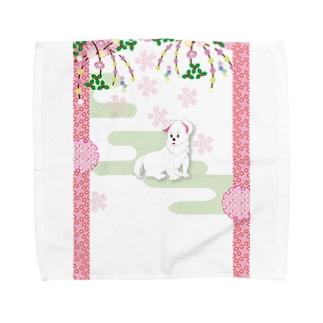 うちのハナコがワン ❤️ Towel handkerchiefs