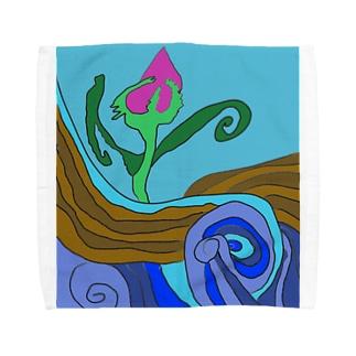 JUNSEN(純仙)大地の水脈 Towel handkerchiefs