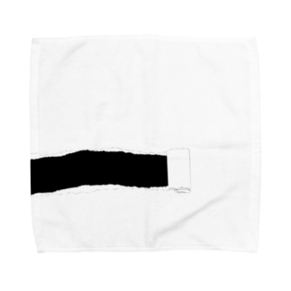 やぶれてますよ(黒 Towel handkerchiefs